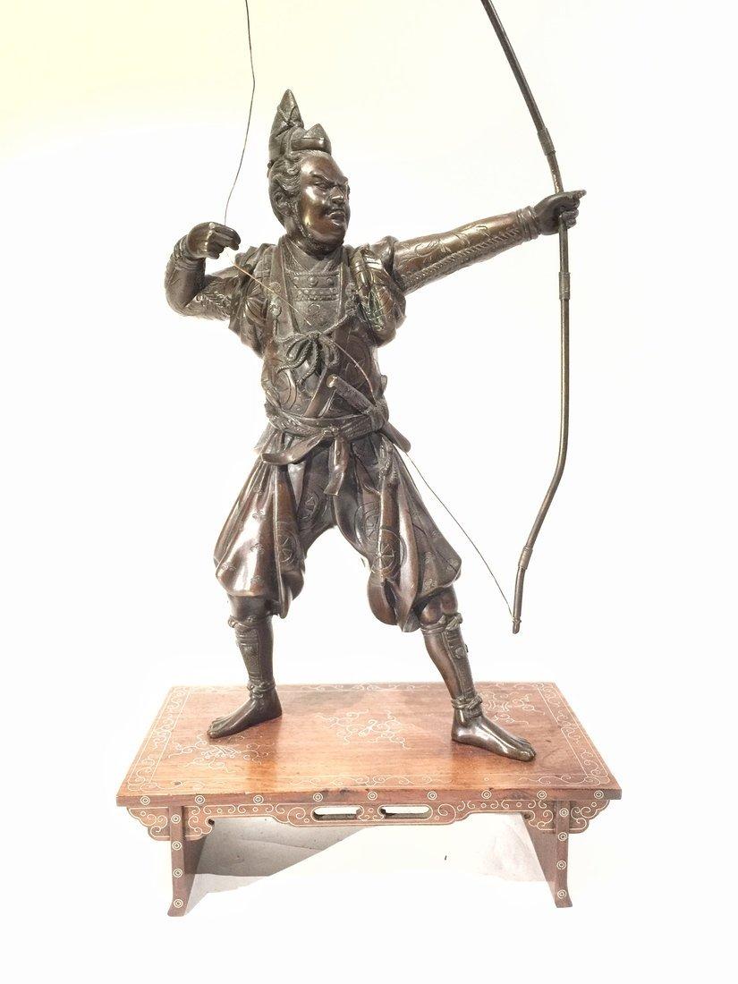 Japanese Bronze Figure of an Archer