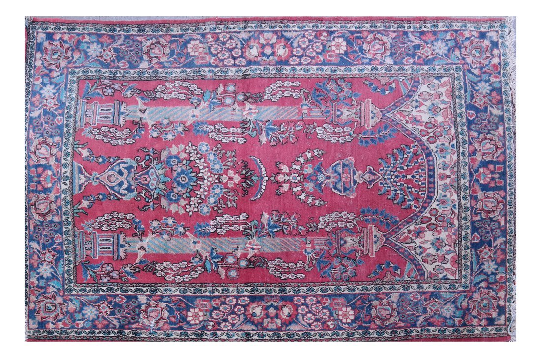 Persian Floral Decorated Rug