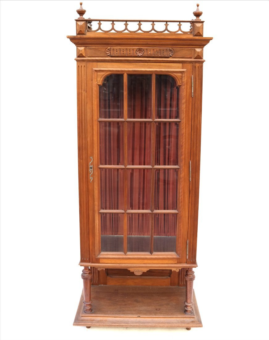 Gothic Revival-Style Curio Cabinet