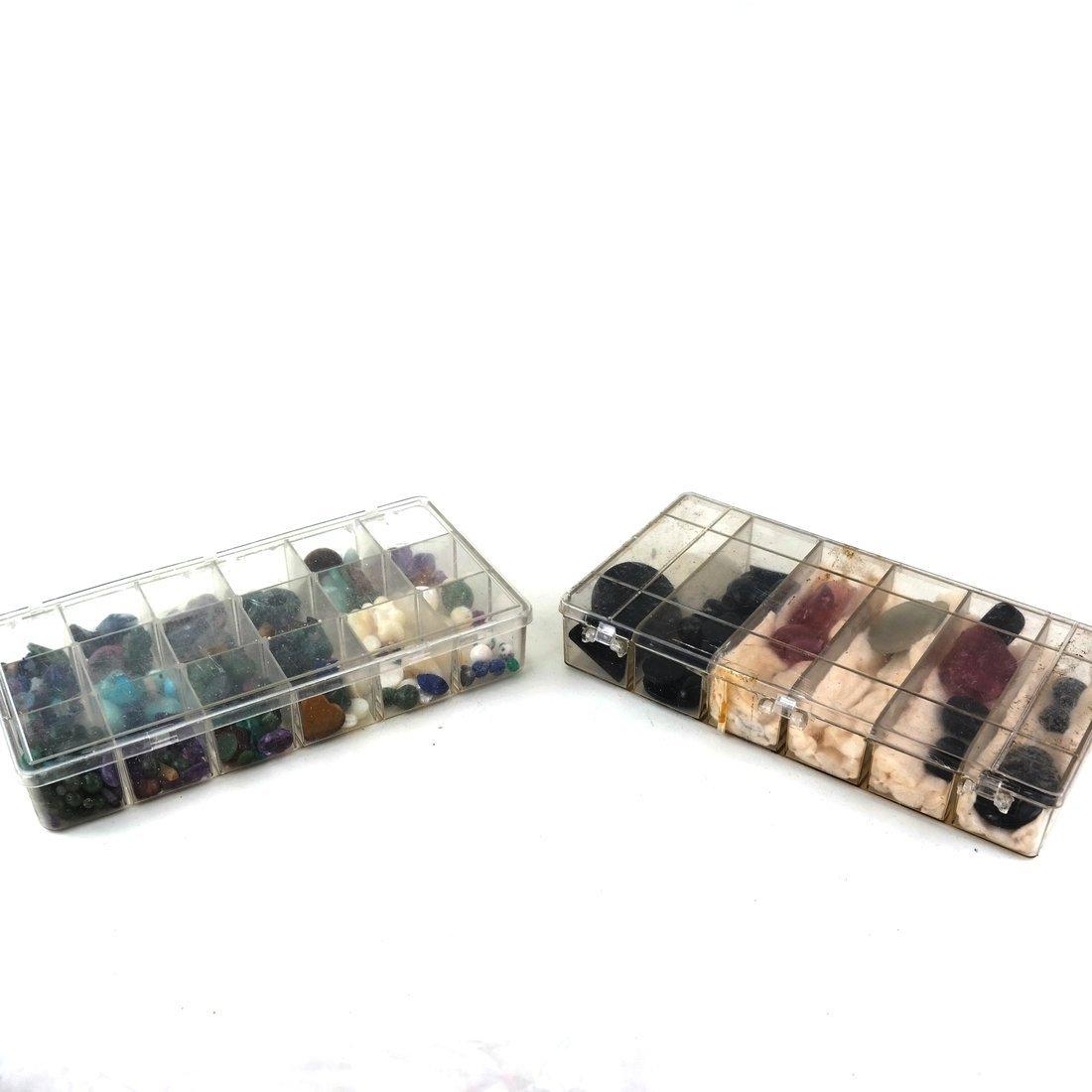 Two Boxes of Mixed Semi-Precious Stones