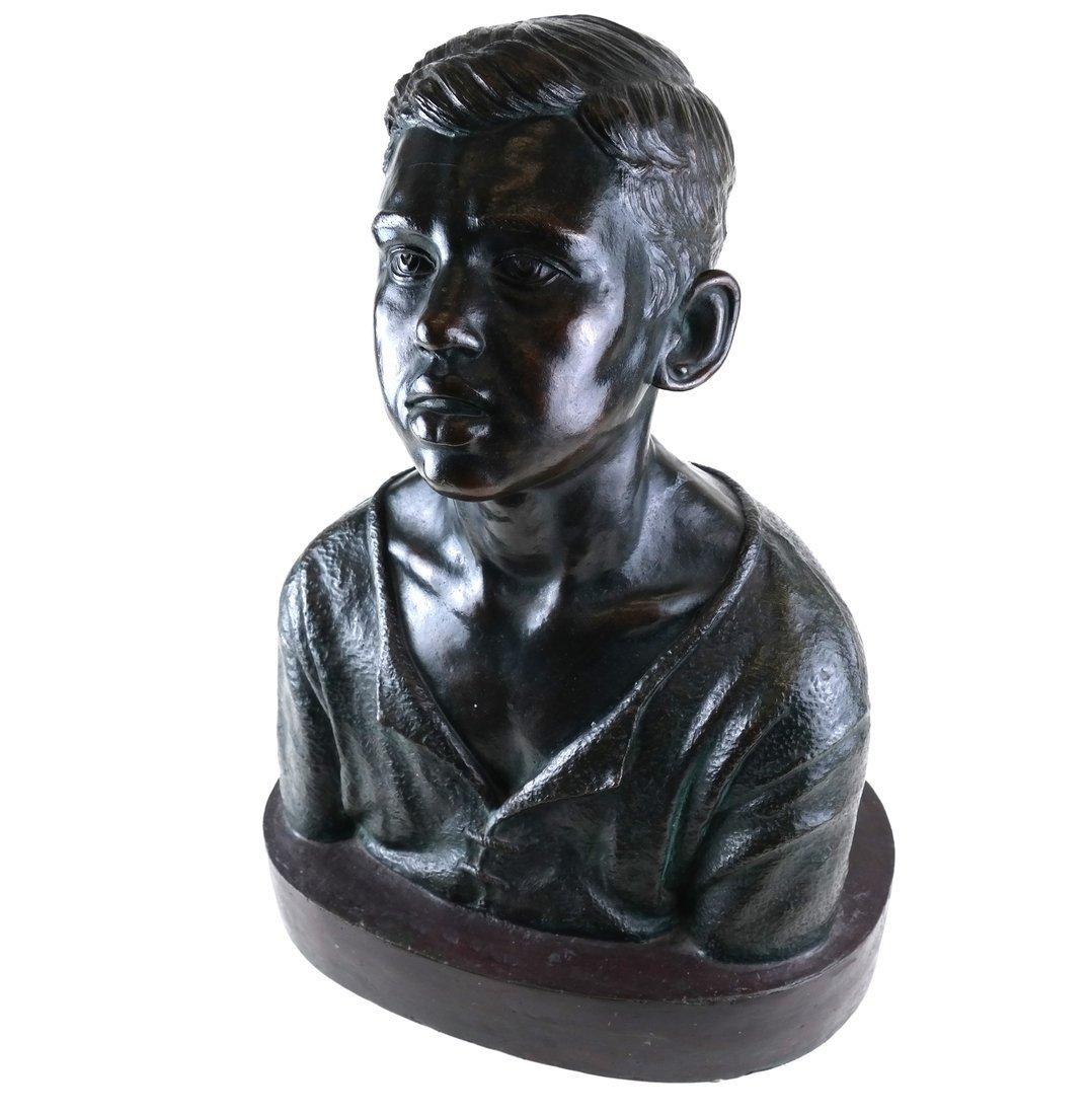 Bronze Bust of A Boy