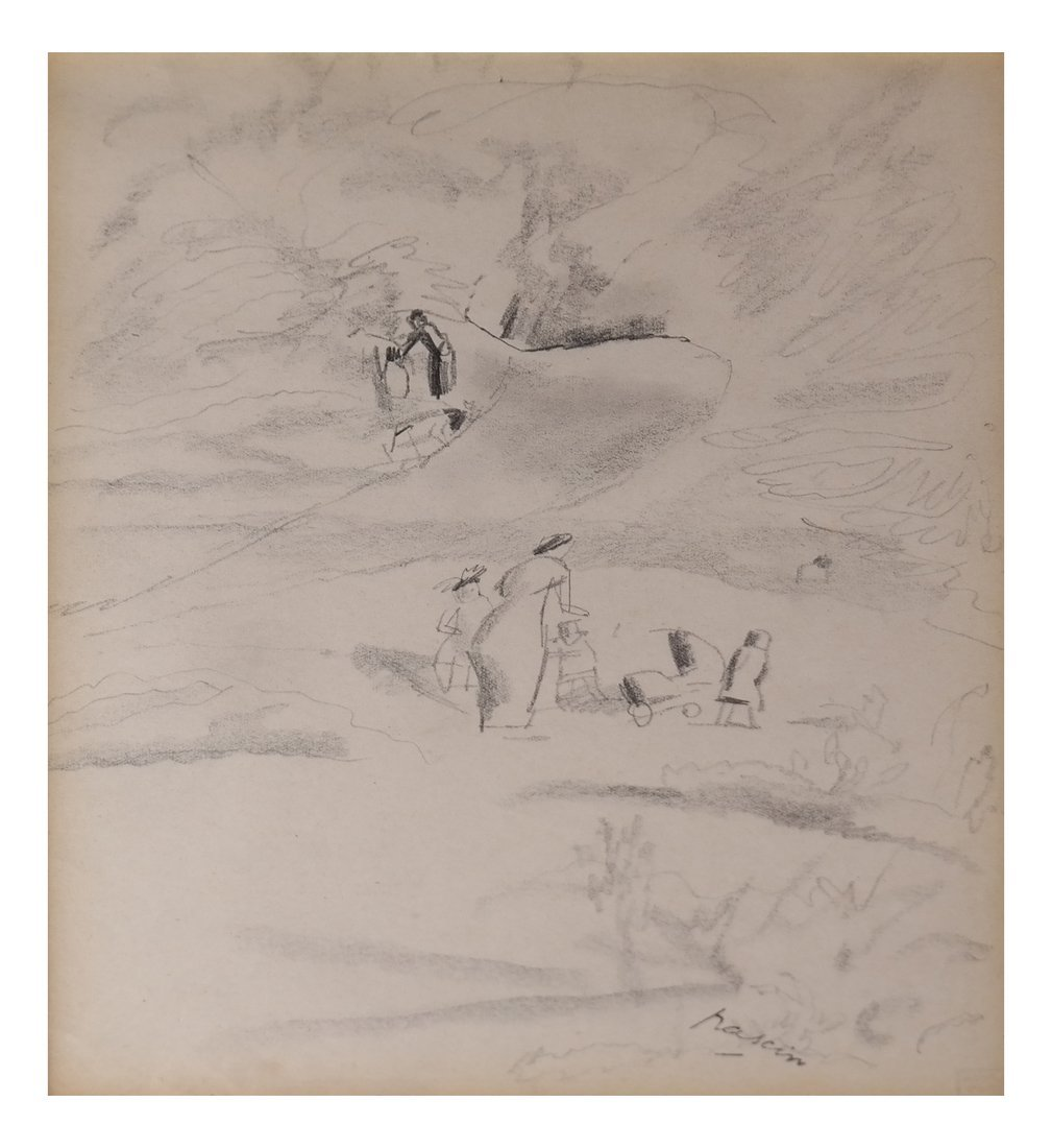 Jules Pascin, Central Park, Drawing
