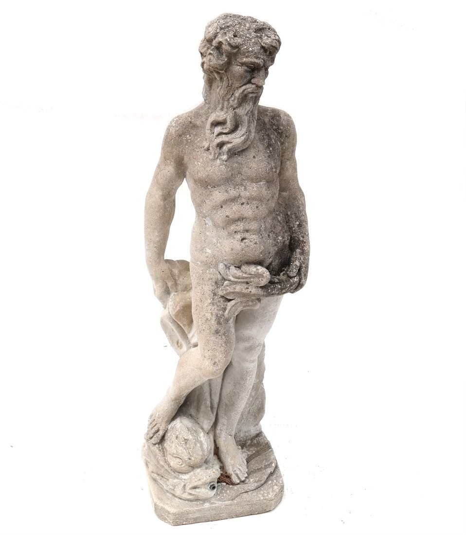 Concrete Sculpture of Neptune