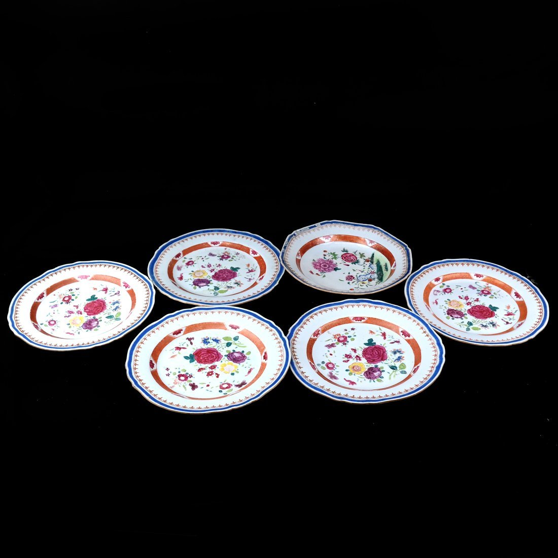 6 Chinese Export Porcelain Dishes