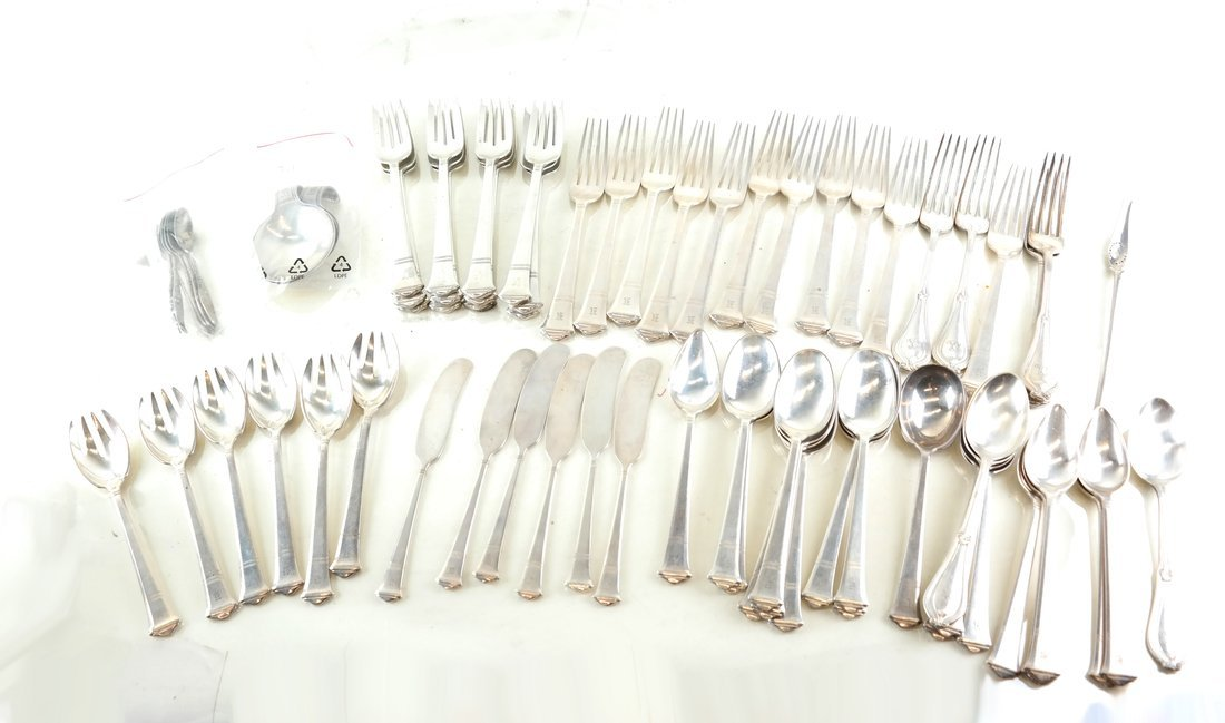 70 Pieces Tiffany Sterling Flatware