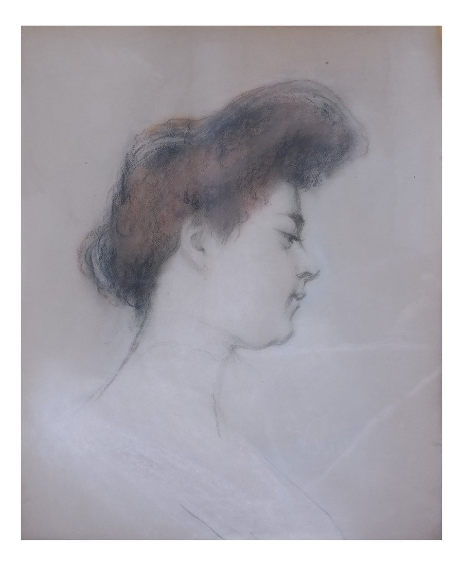 Portrait of a Female, Pastel