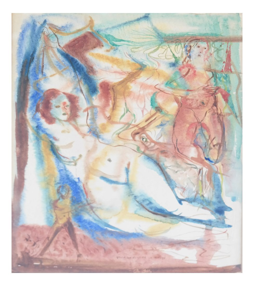 Wesley Lea, Watercolor - Nudes