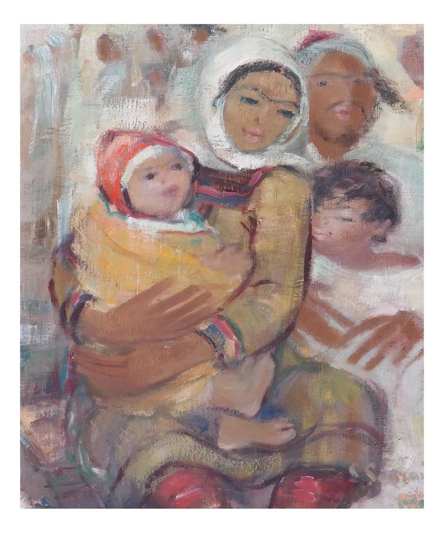 Family Portrait, Oil on Canvas
