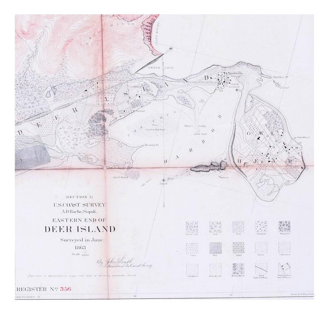 John Smith, Deer Island M.E. Map