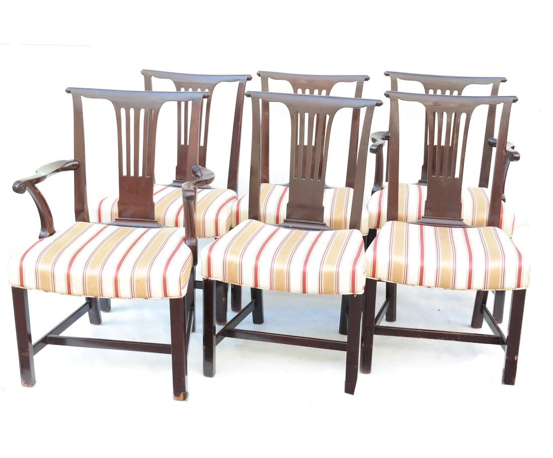 Set Six George III Style Dining Chairs