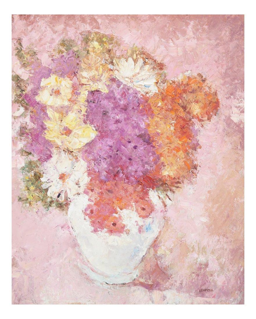 Lempicka, Floral Still Life, Oil/Board