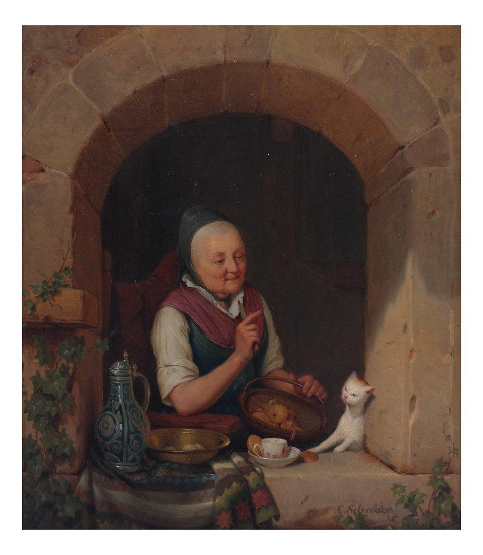C. Schroder, A Woman & a Cat