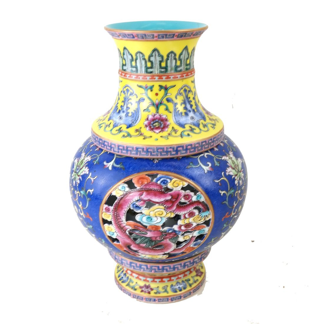 Chinese Porcelain Two-Part Vase
