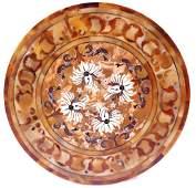 Pietra Dura Circular Marble Table Top