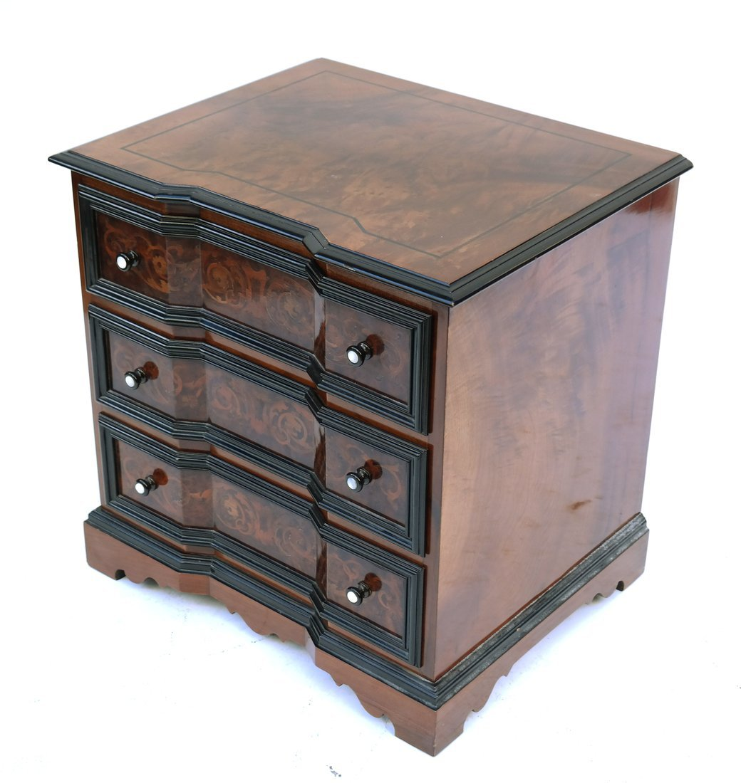 English Inlaid Block-Front Chest