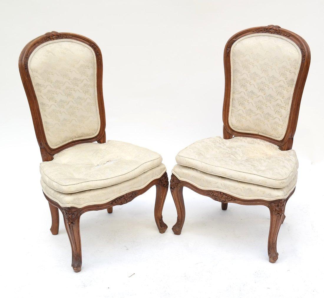 Pair of Loui XV-Style Slipper Chairs
