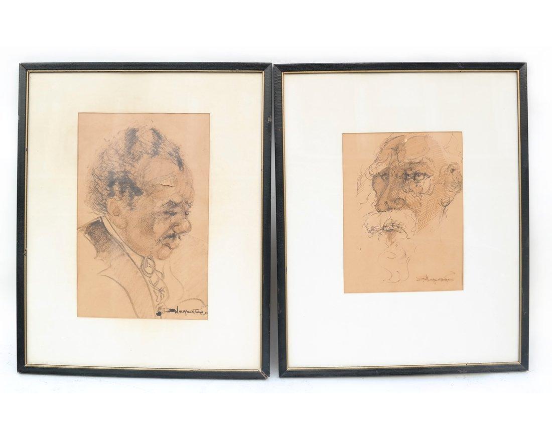 Pair Of Portrait Prints