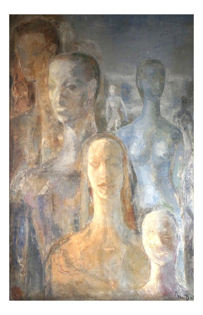 Abstract Figures, Oil On Canvas
