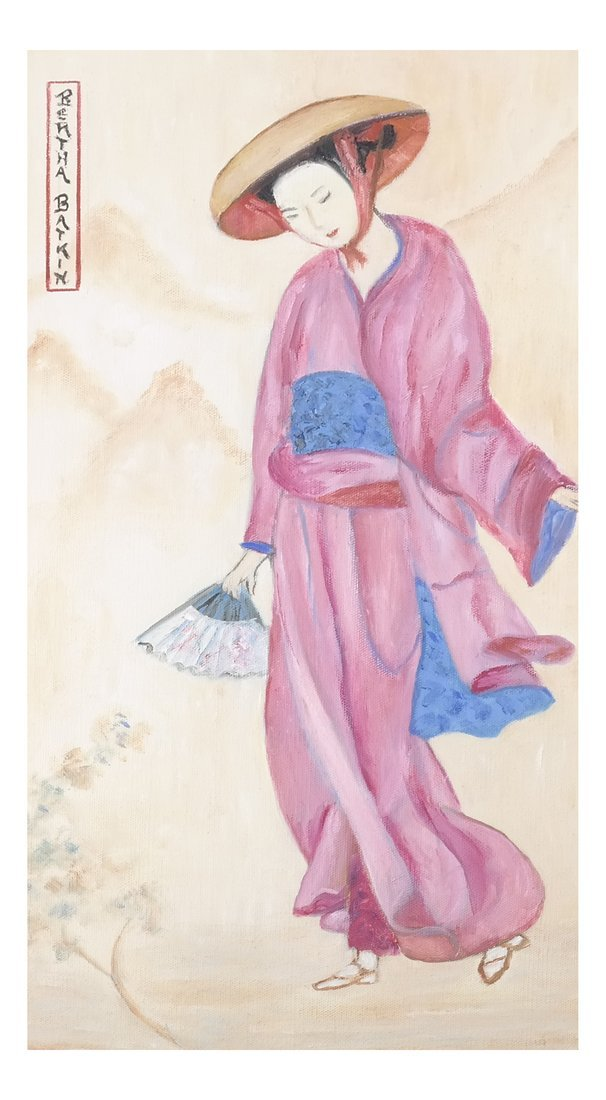 Asian-Style Figural Painting