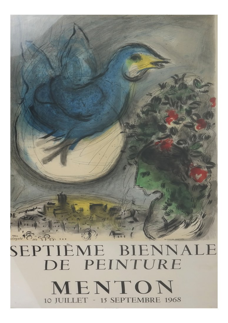 After Marc Chagall Lithograph Poster