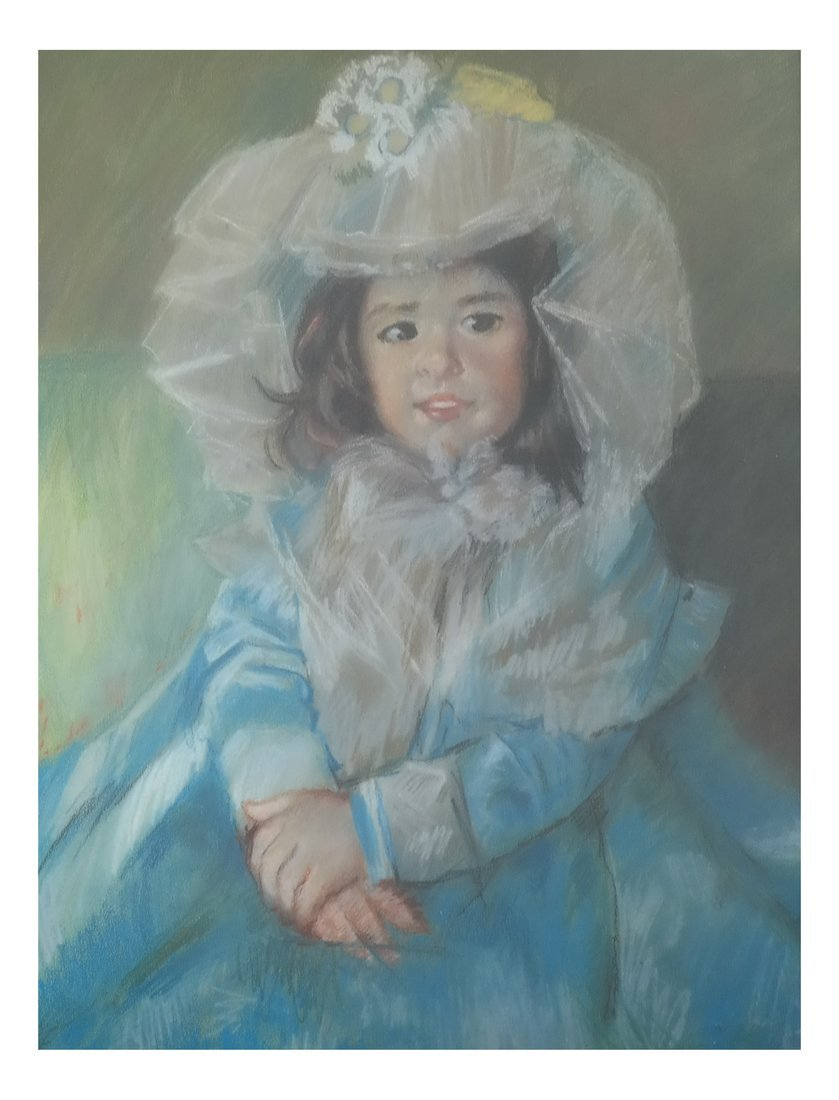 Early 20th Century Pastel Child Portrait