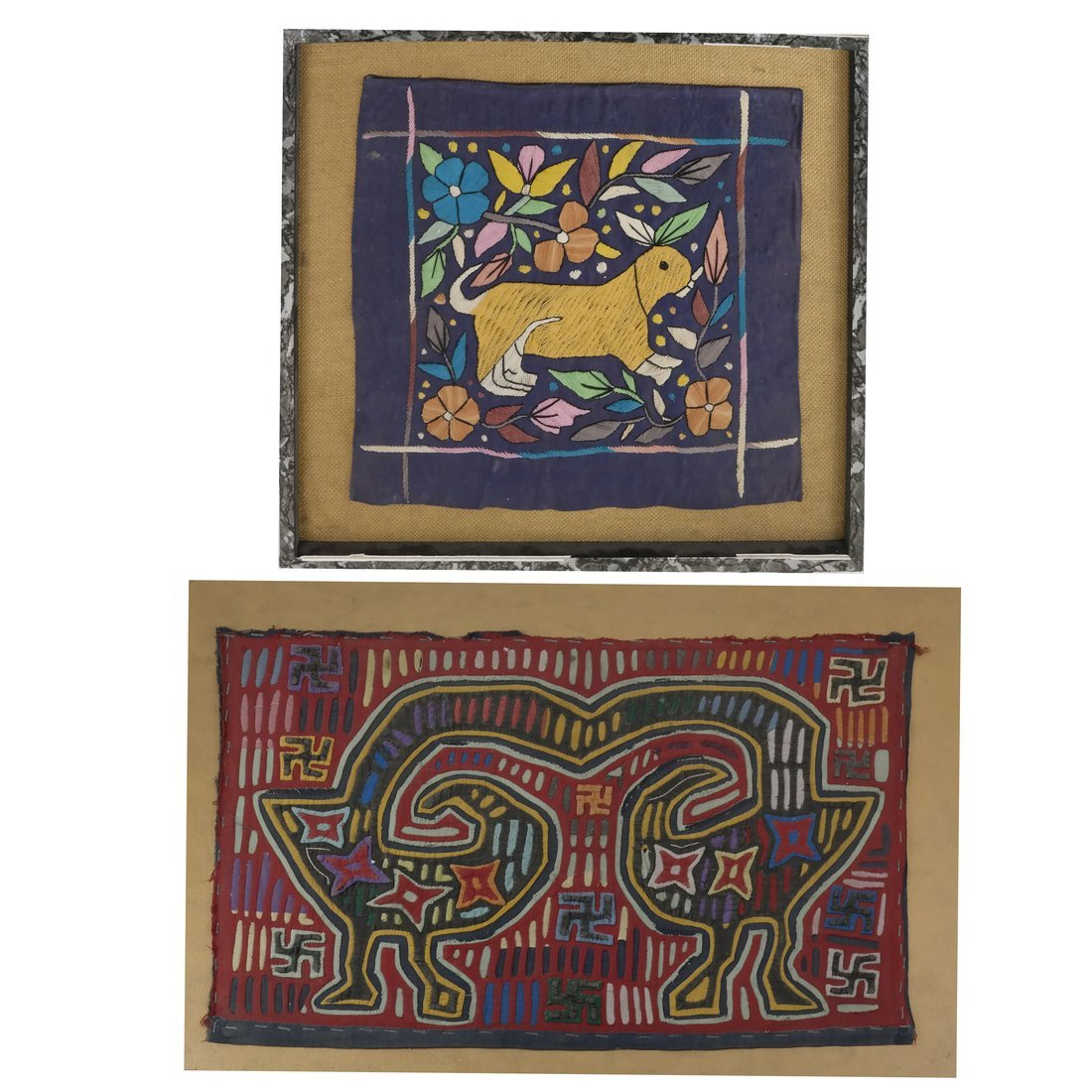 Panamanian Stitched Mola & an Embroidery