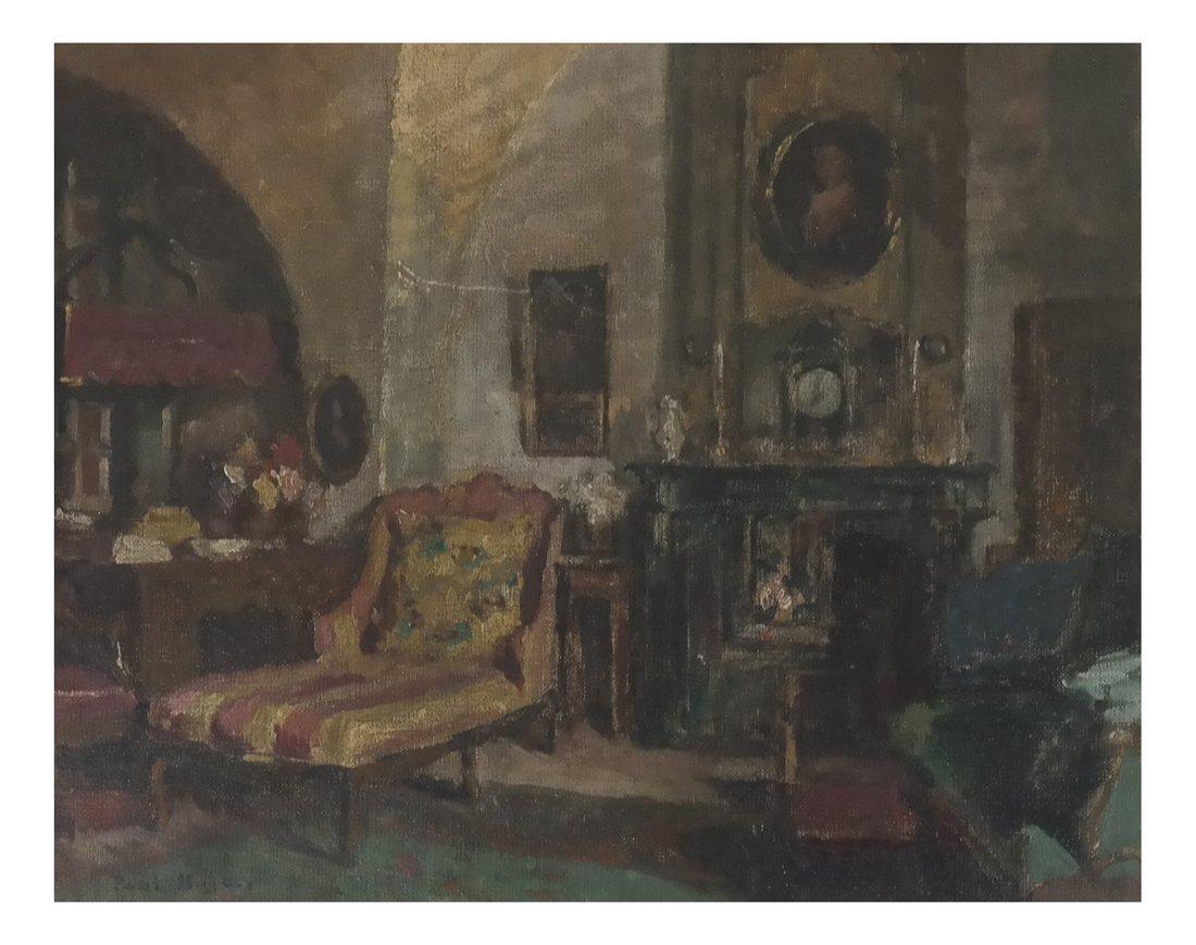 Paul Jean Hugues, Salon, Framed Oil on Canvas