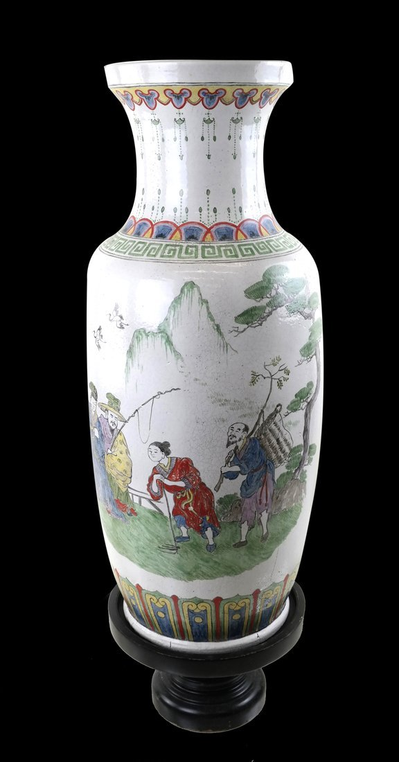 Asian Decorated Ceramic Vase