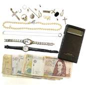 Gold, Costume Jewelry, and Currency