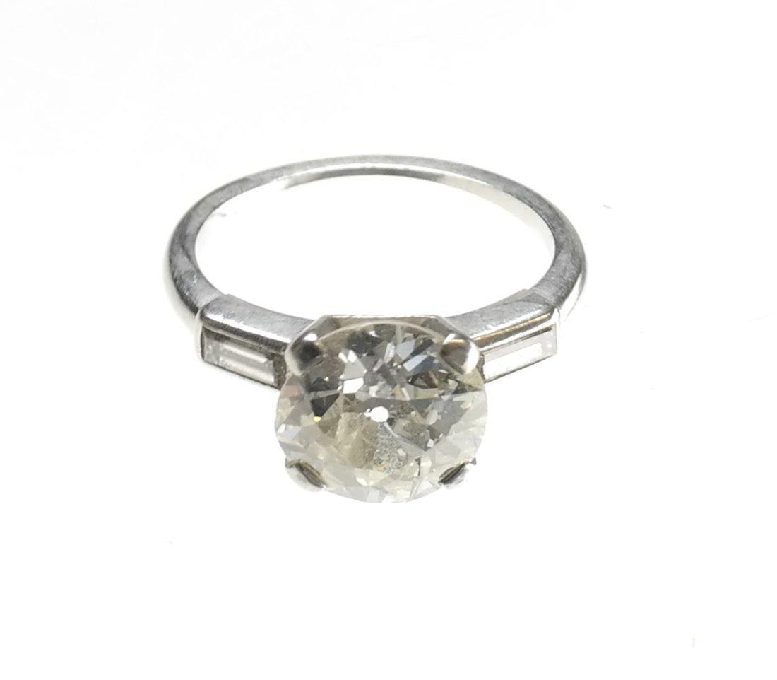 Platinum Diamond Ring, 2.95 ct