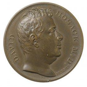 Dr. David Hosack Medal, ca. 1830.