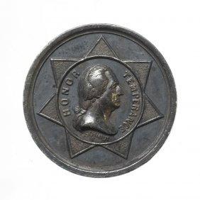 Pair of Honor Temperance Medalets, 1844.