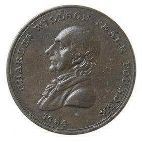 Peale's Philadelphia Museum Medal, Ca. 1830.