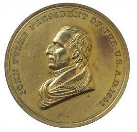 John Tyler Inaugural Medal, 1841. Julian PR-9.