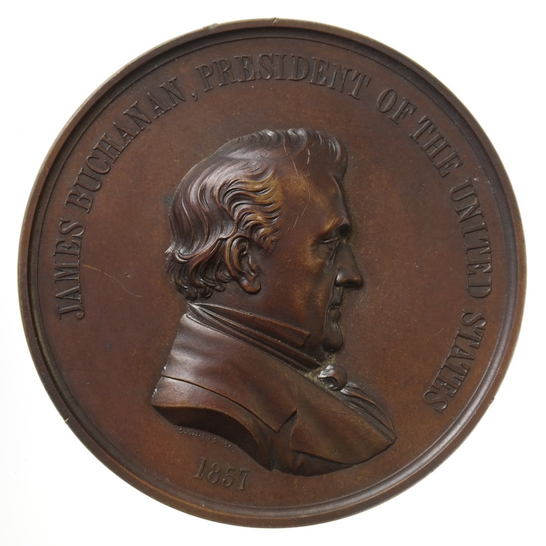 James Buchanan Indian Peace Medal, 1857.