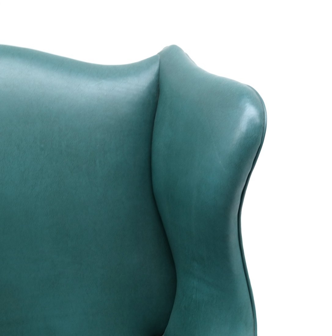 Queen Anne-Style Wing Chair - 4