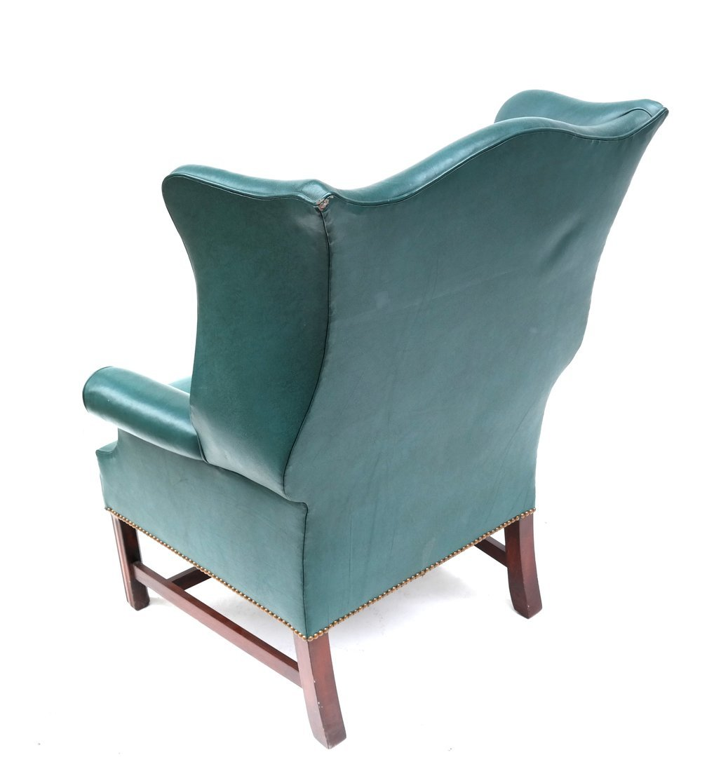 Queen Anne-Style Wing Chair - 7