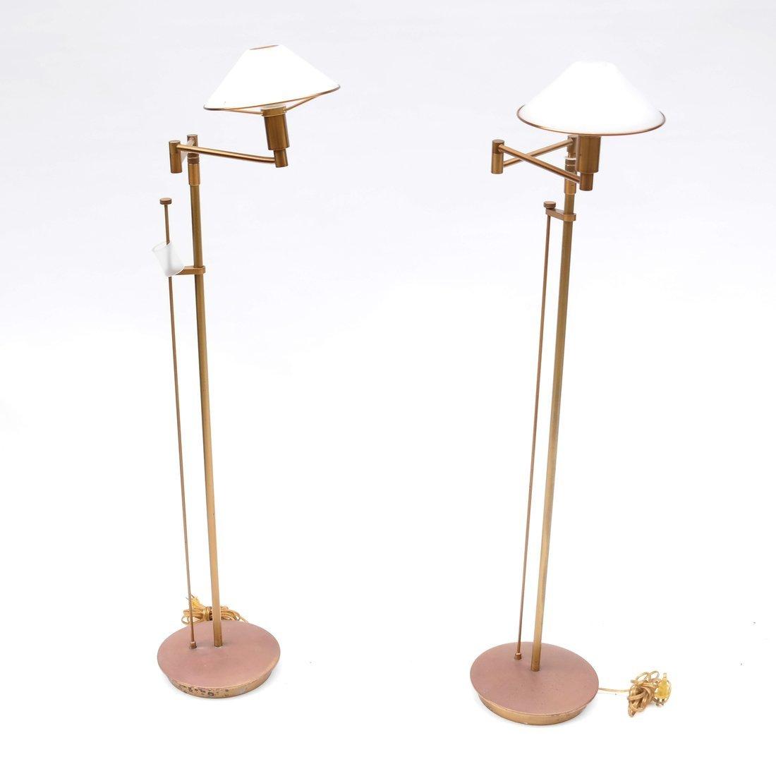 Pair of Modern Swing Arm Floor Lamps