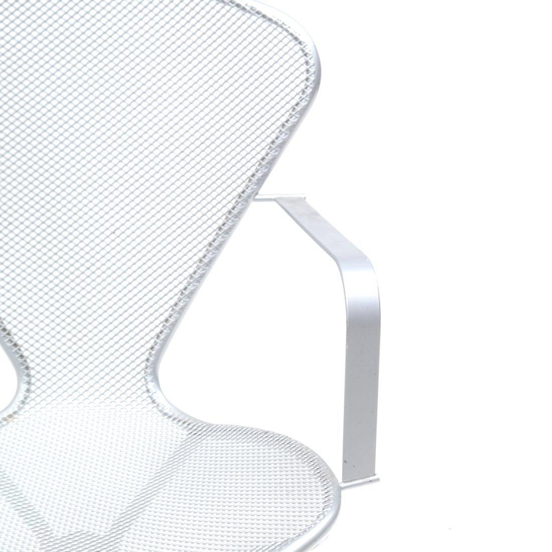 Steel Matte Finish Swivel Armchair - 4