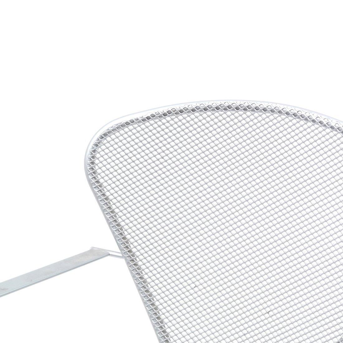 Steel Matte Finish Swivel Armchair - 6
