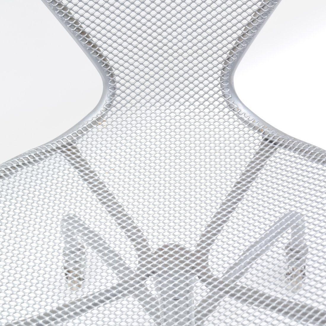 Steel Matte Finish Swivel Armchair - 7
