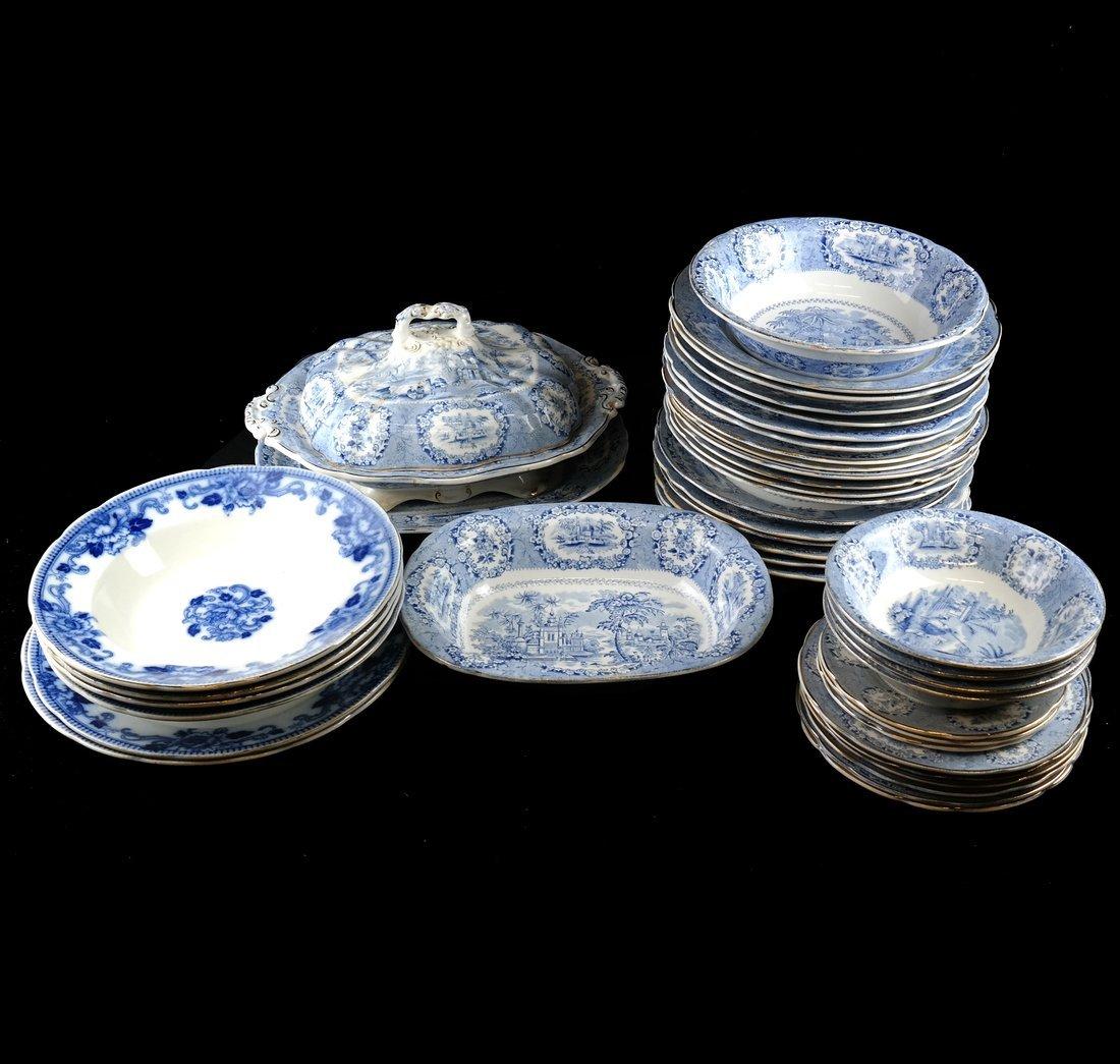 41 Blue & White Porcelain Tableware