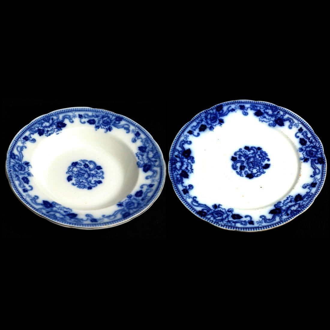 41 Blue & White Porcelain Tableware - 3