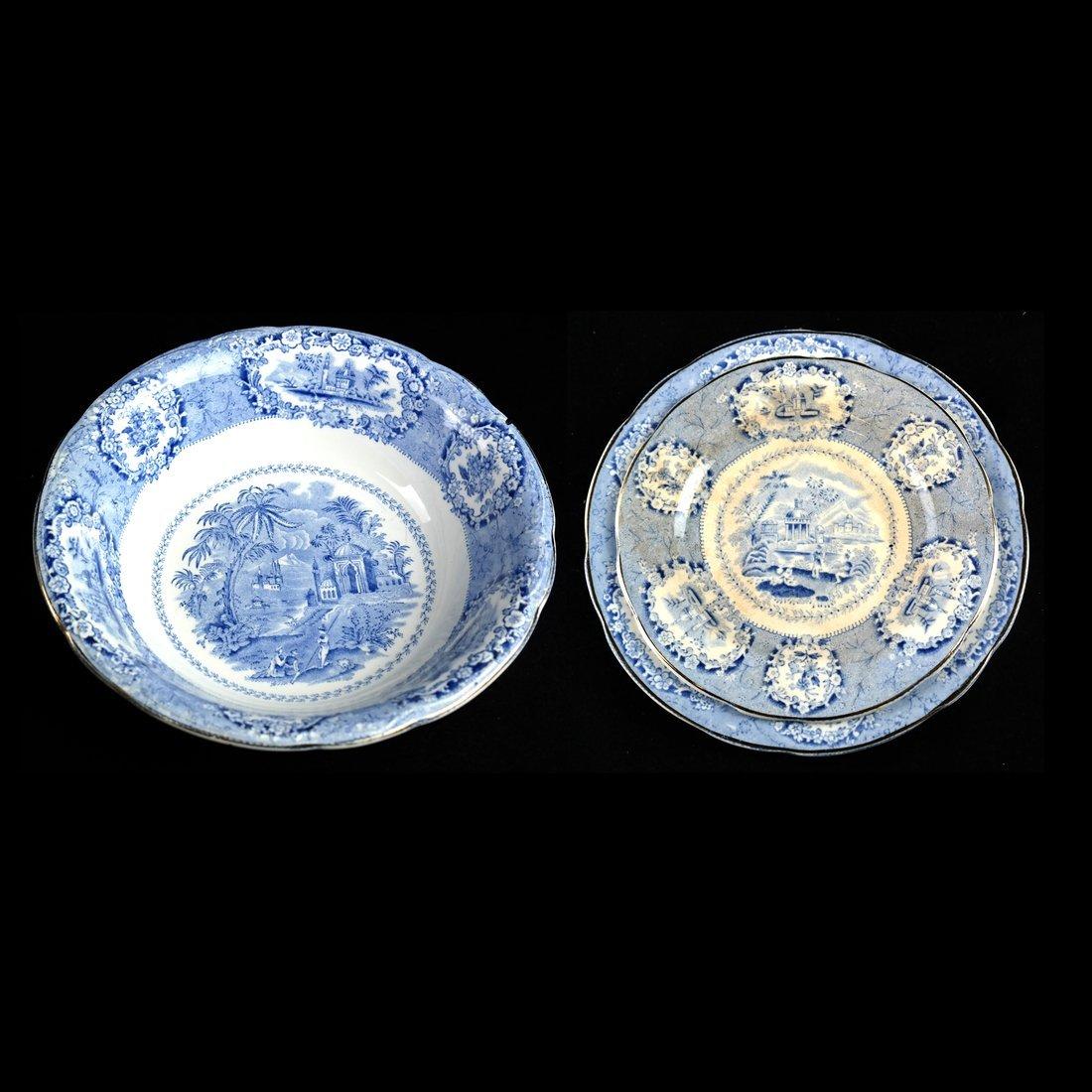 41 Blue & White Porcelain Tableware - 5