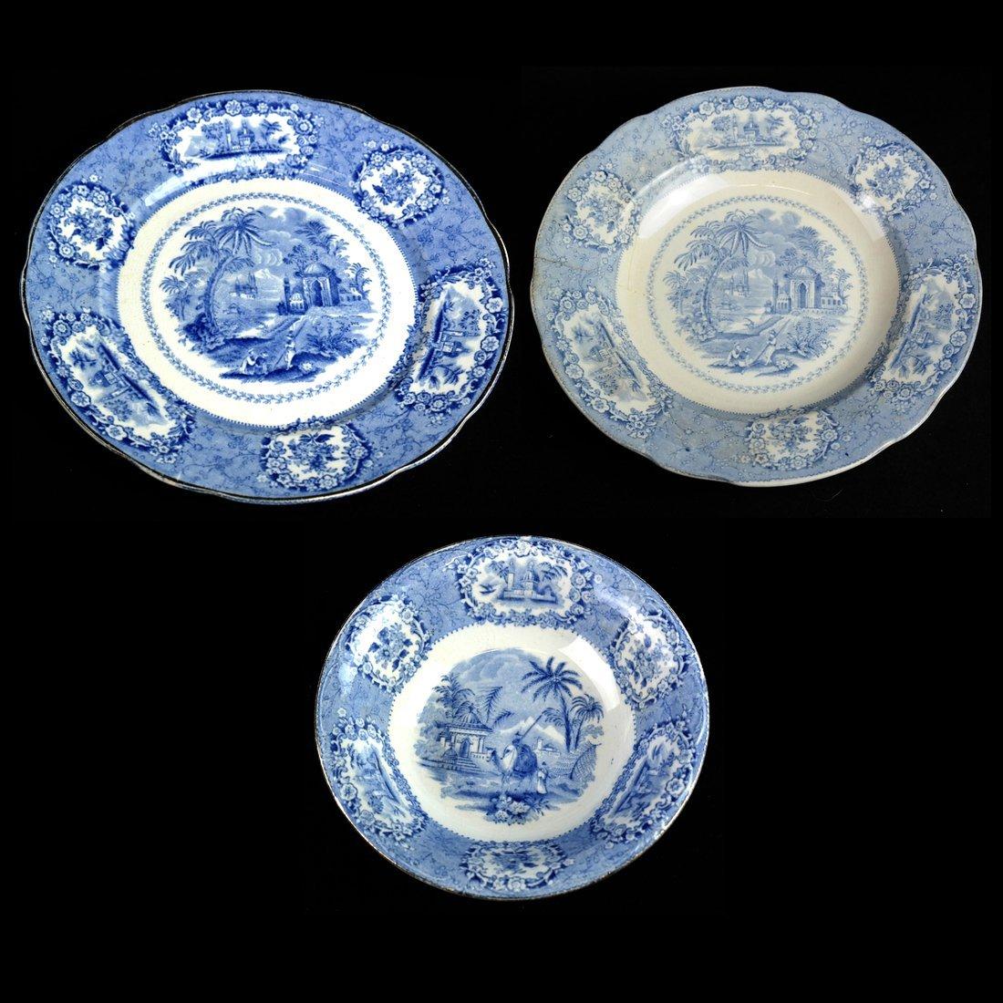 41 Blue & White Porcelain Tableware - 6