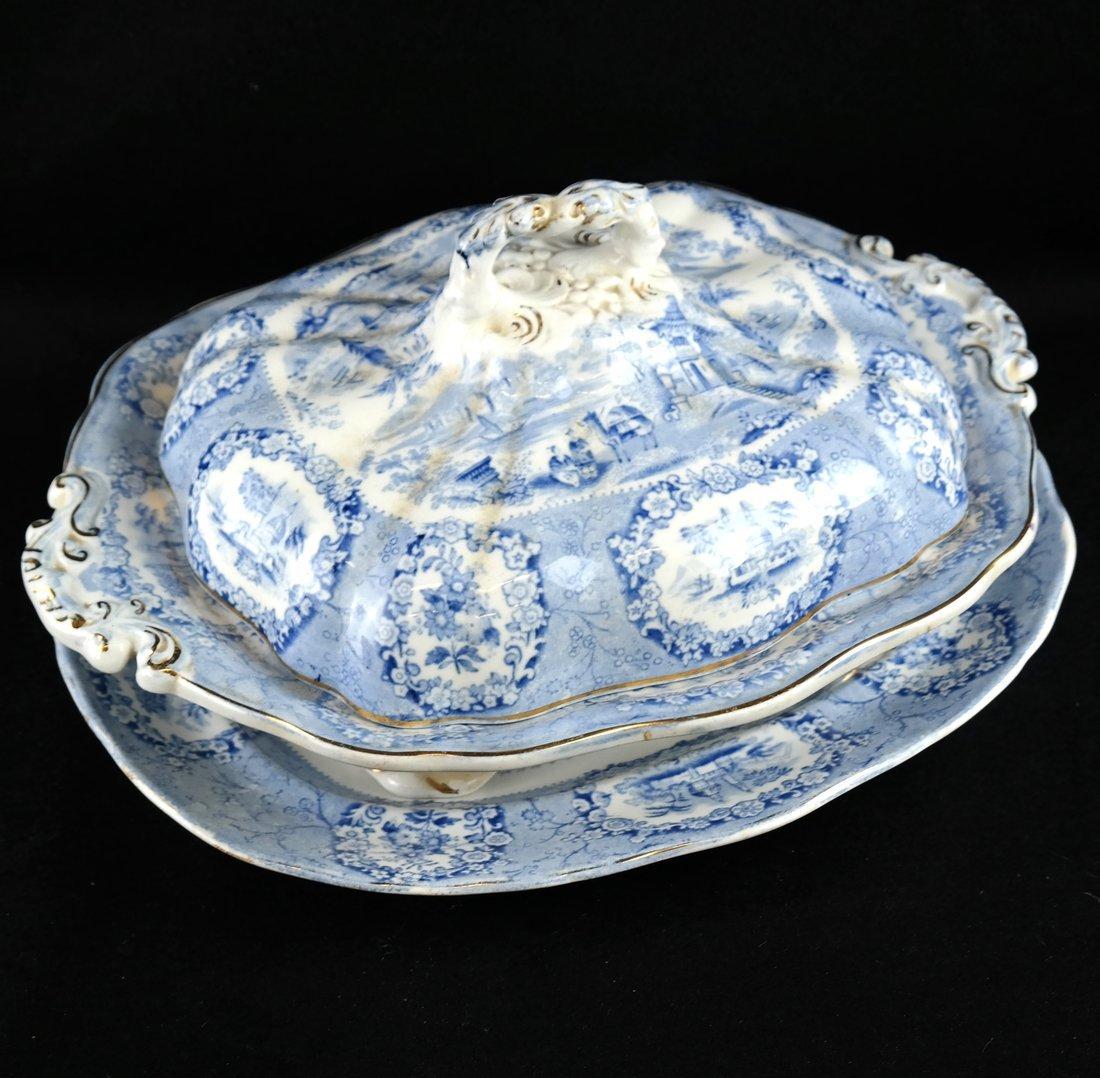 41 Blue & White Porcelain Tableware - 8