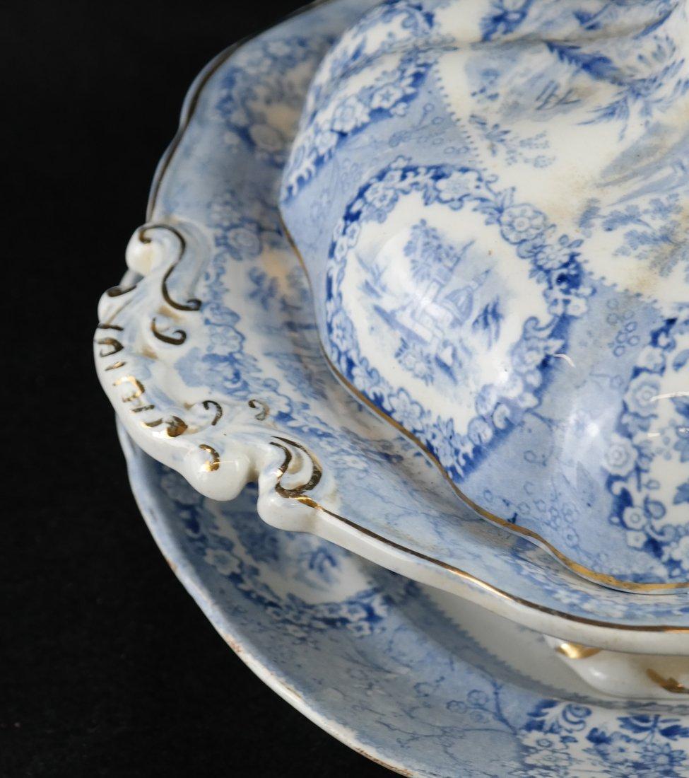 41 Blue & White Porcelain Tableware - 9
