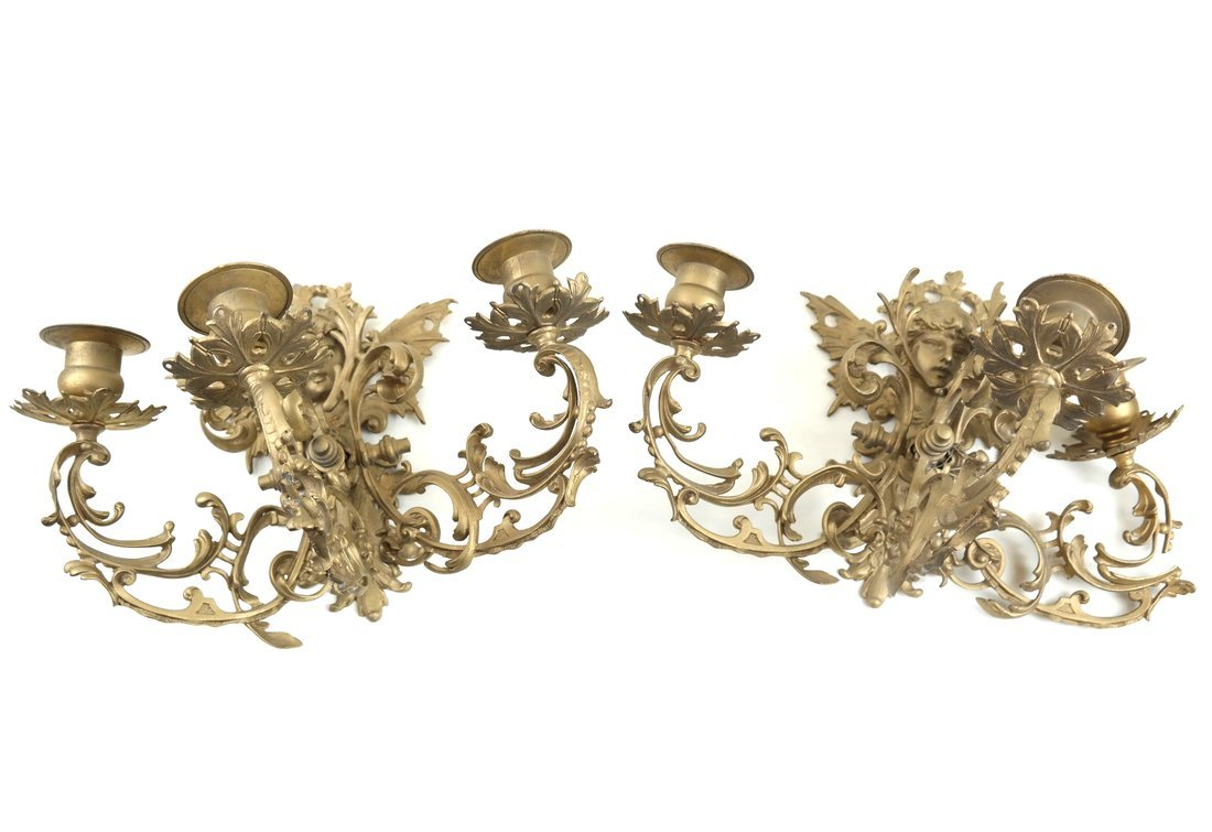Pair of Rococo-Style Wall Sconces