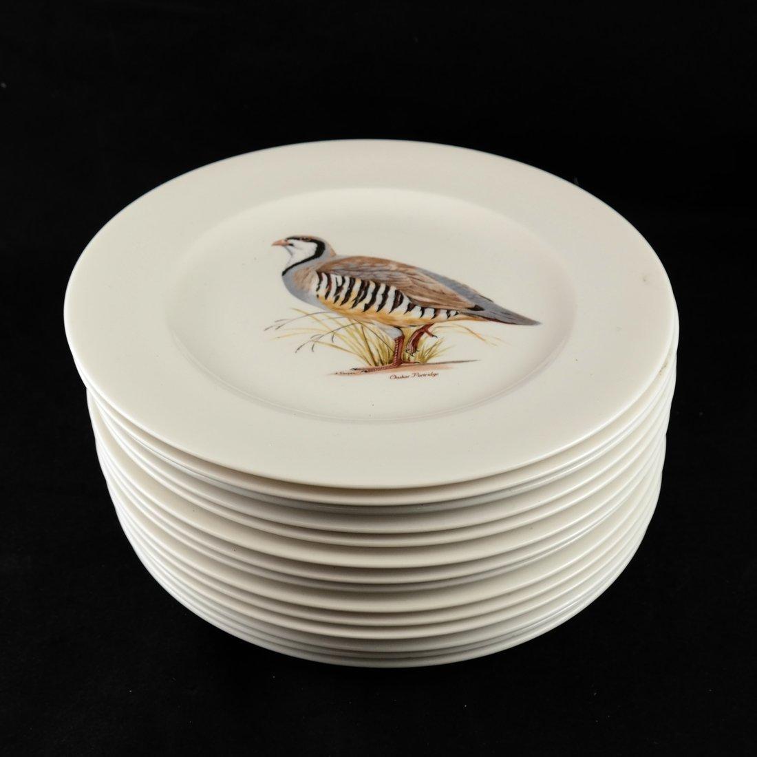 14 Ceramic Bird Decorated Plates
