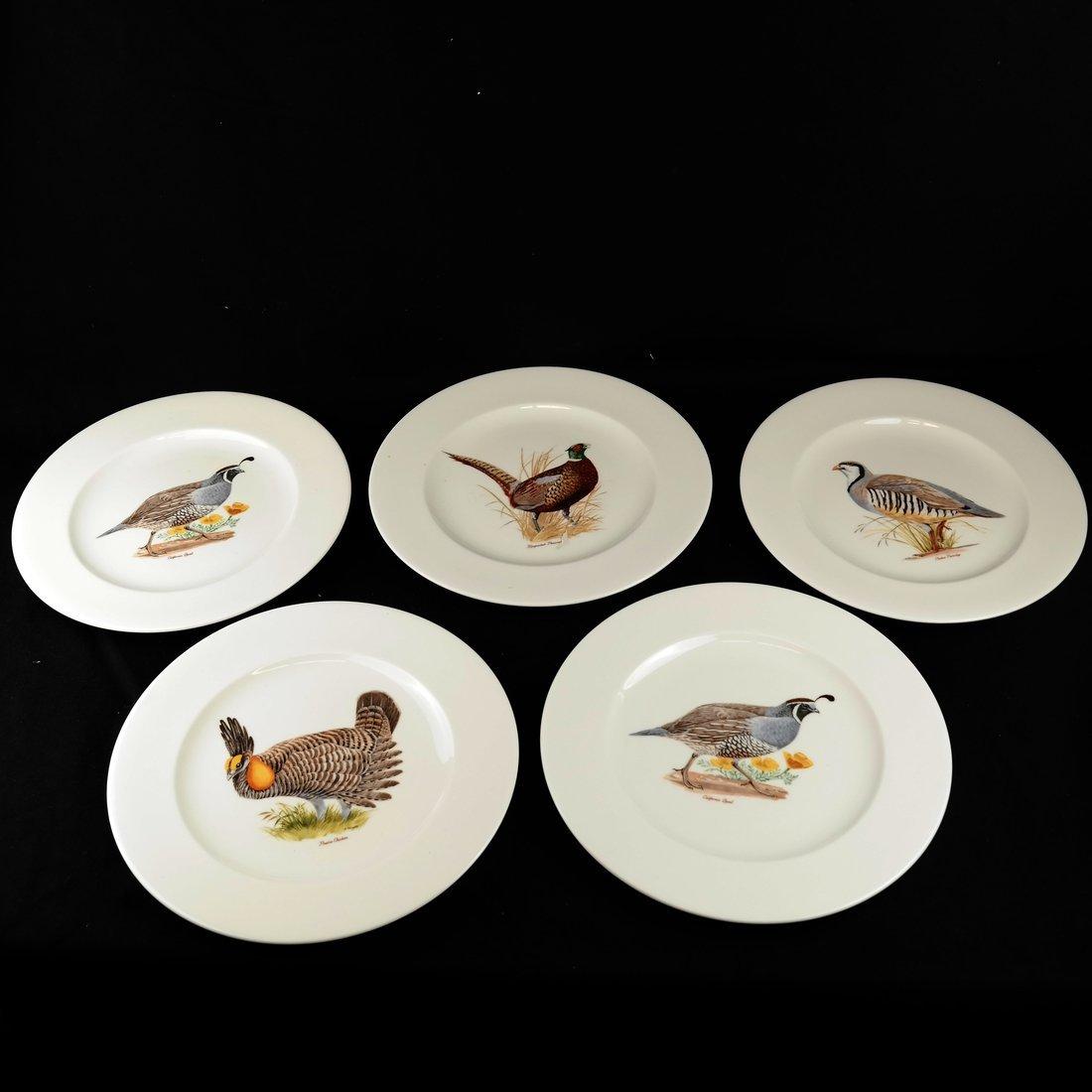 14 Ceramic Bird Decorated Plates - 3